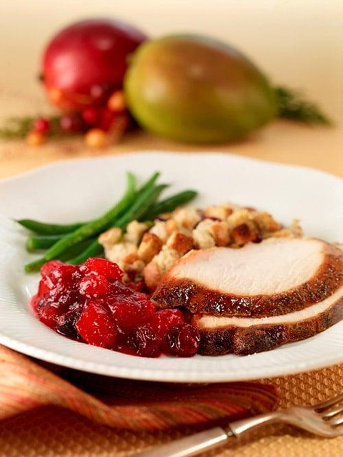 Thanksgiving Recipe - Mango cranberry sauce