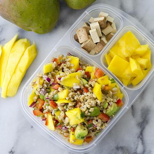 Get a Head Start on New Year's Resolutions - Mango Farro Avocado Salad