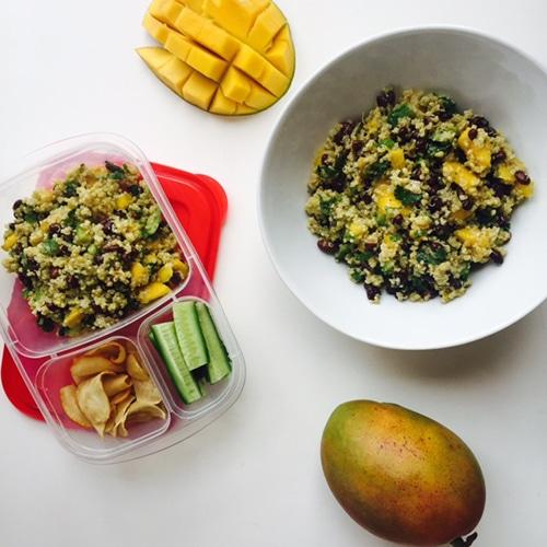 Get a Head Start on New Year's Resolutions - Mango Quinoa Salad