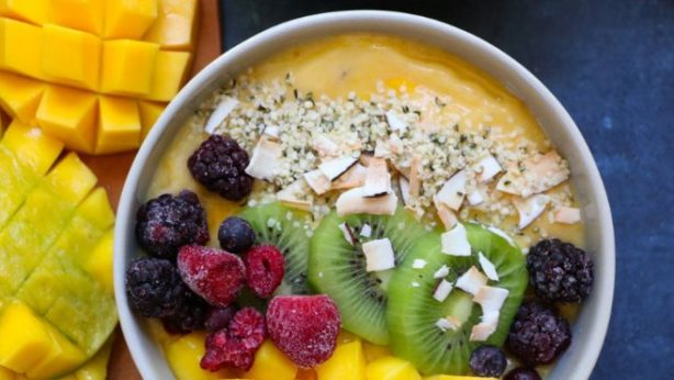 Get a Head Start on New Year's Resolutions - mango smoothie bowl