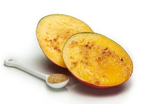 Hanukkah recipes - broiled mango with sugar