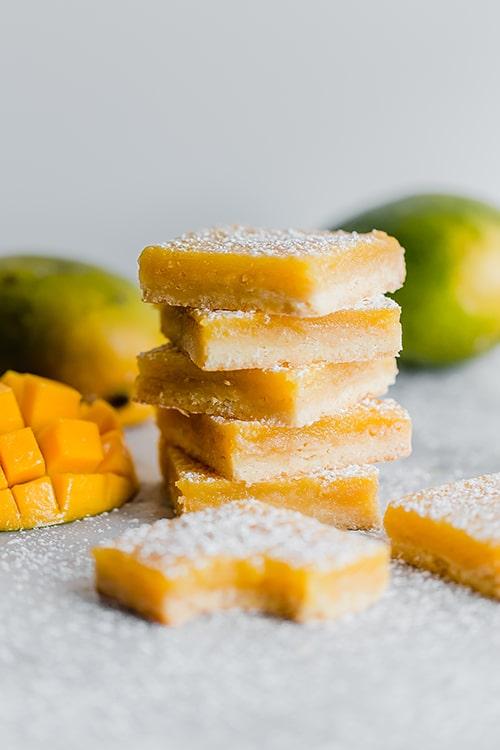 Hanukkah recipes - mango lemon bars