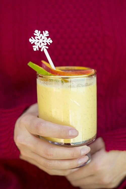 Mango Christmas Recipes - tropical mango eggnog