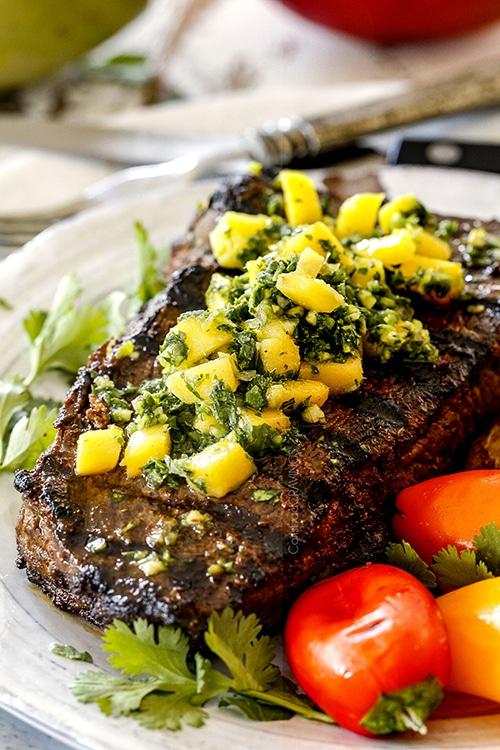 Winter Solstice - Brazilian Mango Chimichurri Steak
