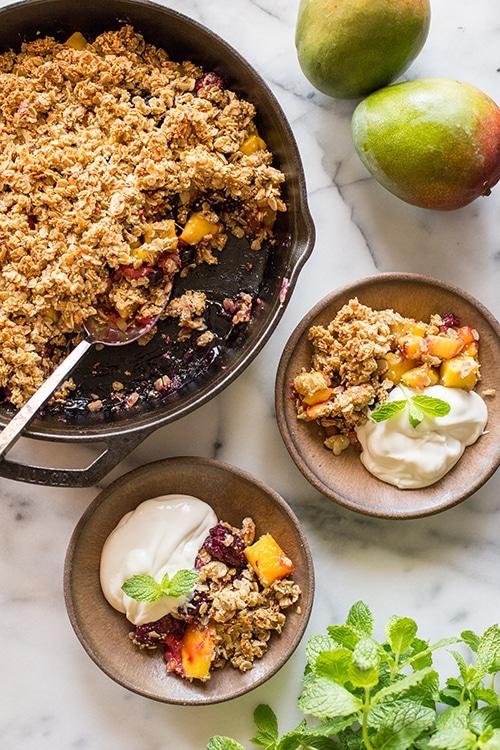 Winter Solstice - Mango Berry Breakfast Crisp