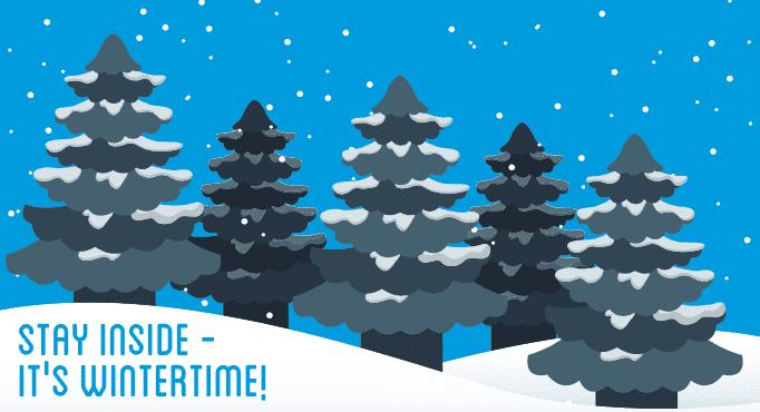 Winter Solstice - Winter pine trees graphic