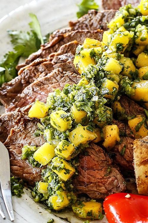 Valentines Day - Mango Chimichurri Steak