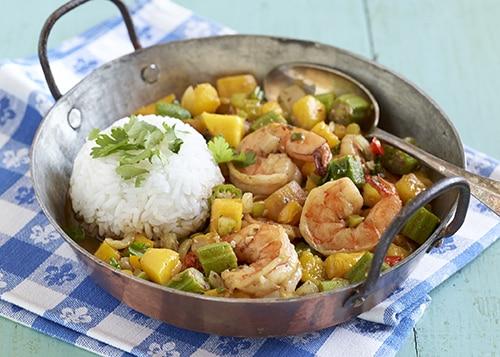 Mardi Gras - Shrimp & Mango Gumbo