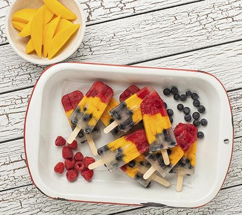 Mango Berry Pops
