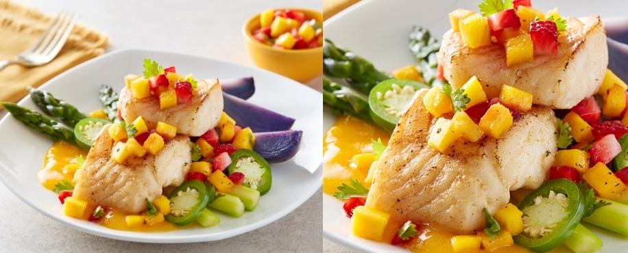 Mango Pan Seared Cod Recipe Header