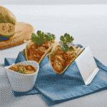 Roasted Mango Salsa on Tacos